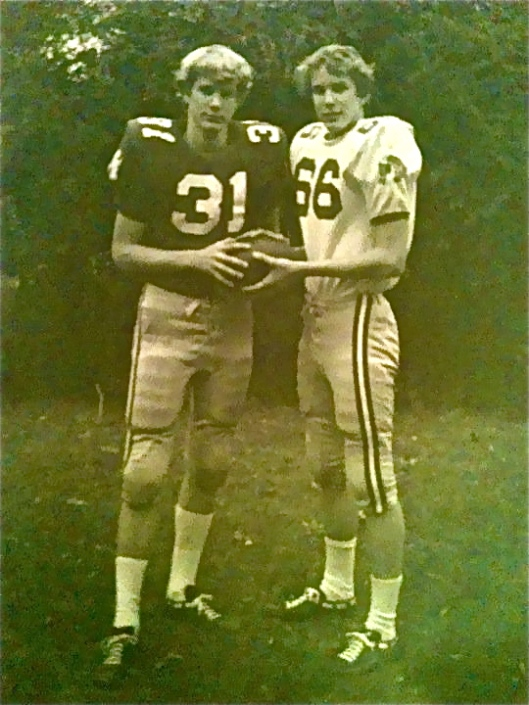 Frank and John McLallen when they played high school football