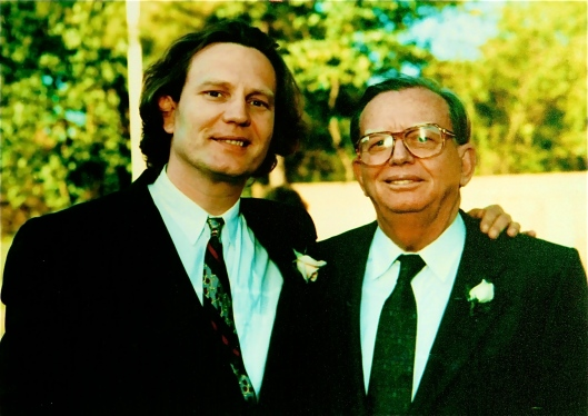 Me and Daddy at John and Stacy's wedding, June 1990, Memphis, Tennessee